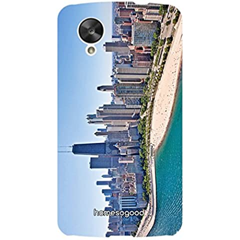 HomeSoGood Chicago City Multicolor 3D Mobile Case For LG Nexus 5 (Back Cover)