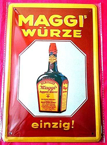Blechschild 20x30 cm Maggi Würze Suppe Kochen Küche Essen + Trinken Werbung Plakat historisch Gastronomie Schild (Werbung Plakat)