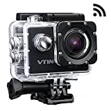 VTIN WIFI 2,0 Zoll wasserdichte Camera Helmkamera Full HD 1080p, 12MP, 170 ° Weitwinkel Glass...