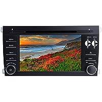XISEDO Android 7.1 Autoradio 7 Zoll Car Radio RAM 2G Autonavigation 2 Din Car Stereo mit 1024*600 Touchscreen und DVD Player für Porsche Cayenne (2003-2010) Unterstützt Lenkradkontrolle (Autoradio)