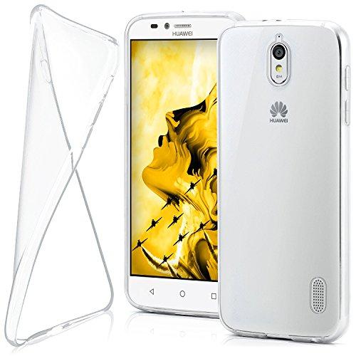 MoEx Huawei Y625 Hülle Silikon Transparent Klar [OneFlow Clear Back-Cover] TPU Schutzhülle Dünn Handyhülle für Huawei Y625 Case Ultra-Slim Silikonhülle Rückseite