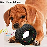 PETS EMPIRE Non-Toxic Durable Chew Tire Squeaky Sound Toy for Medium, Large Dog