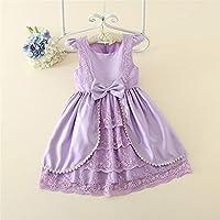 QTONGZHUANG Spitzenkleid Explosion Mädchen Kurzarm Spitzenkleid Kinder Kleid Sommerkleid