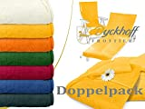 Doppelpack zum Sparpreis - Schonbezüge für Gartenstuhl & Gartenliege aus dem Hause Dyckhoff - erhältlich in 6 sommerlichen Farben - mit Kapuze für besseren Halt, Gartenstuhl (60 x 130 cm), gelb