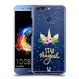 Head Case Designs Magisch Einhorn-Blumen Ruckseite Hülle für Huawei Honor 8 Pro