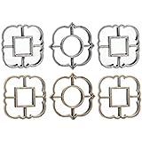dcasa - Juego de 3 espejos de pared árabes para decoración Arabia - Dorado