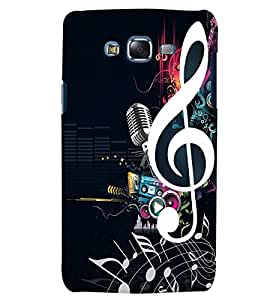 Citydreamz Music/Sound/Notes/Mic Hard Polycarbonate Designer Back Case Cover For Samsung Galaxy A3