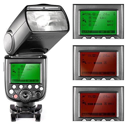Neewer-24G-Wireless-18000-HSS-TTL-MasterSlave-Flash-Speedlite-Kit-per-Fotocamere-Sony-con-Nuovo-Mi-Hotshoe-Inclusi-NW880S-Flash-N1T-S-Trigger-Staffa-Tipo-S-40x40cm-Softbox-20-Filtri-Colorati
