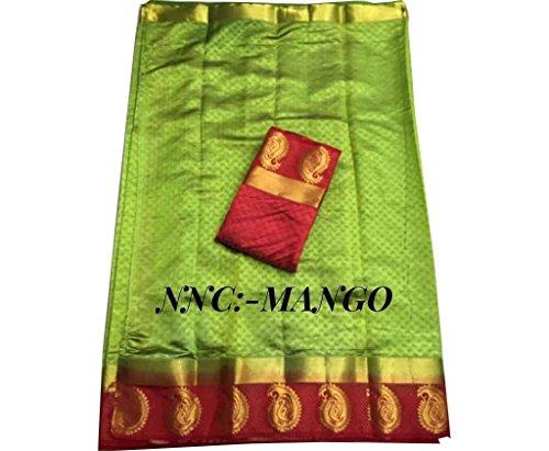 Indische Bollywood Hochzeit Saree indische ethnische Hochzeit Sari Neue Kleid Damen lässig Tuch Geburtstag Ernte Top Mädchen Frauen schlicht traditionelle Party Wear Readymade Kostüm (Green 3) -