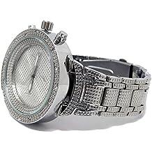 Bling MRSTER Elegante Bañado En Plata circonita Metal Correa HipHop Reloj
