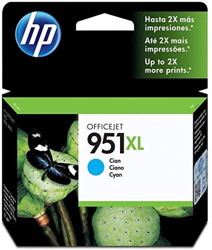 HP 951XL - Cartucho de tinta Original HP 951XL de álta capacidad Cian para HP OfficeJet Pro 251dw, 276dw, 8100, 8600, 8600 Plus, 8610, 8615, 8620