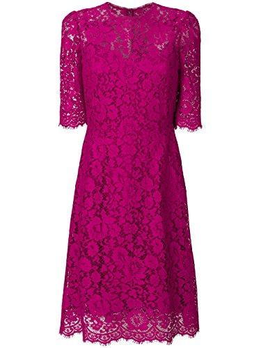 Dolce E Gabbana Damen F67z2thlmiif0382 Fuchsia Baumwolle Kleid (Gabbana Damen-kleider & Dolce)