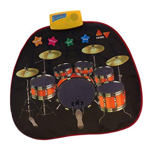 Sharplace Musical Jazz Drum Mat Jazz Drum Musik Decke Teppich Pädagogisches Spielzeug für Baby Kids