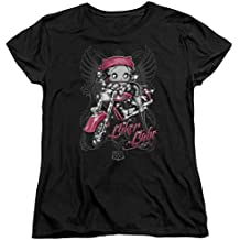 Betty Boop Cartoon Biker Babe Women's T-Shirt Tee