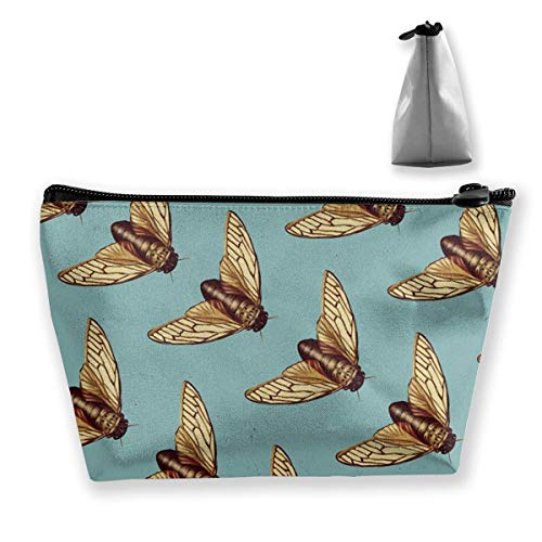 Trapezoid Kosmetiktaschen Pinsel Beutel Mint Color Cicada Reise Make-up Tasche Kosmetiktasche Pinsel Tasche