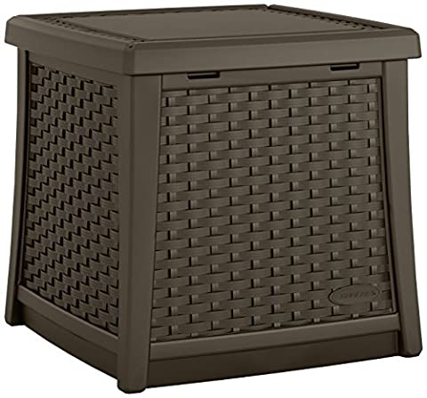 Suncast BMDB1300 ® Outdoor Garden Storage Side Table Furniture Conveniently