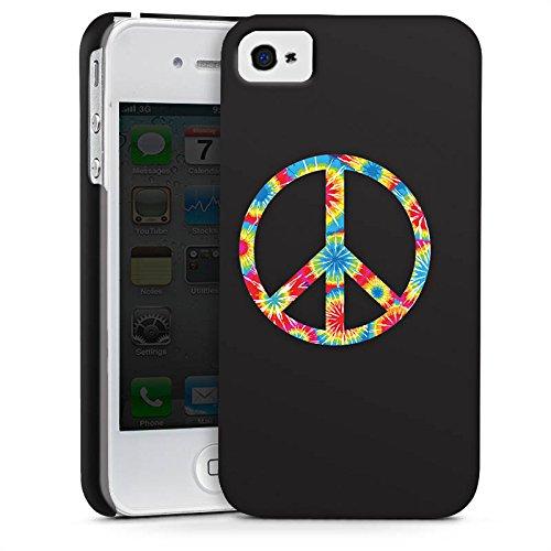 Apple iPhone X Silikon Hülle Case Schutzhülle Peace Hippie Bunt Premium Case glänzend