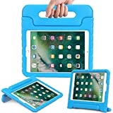 DMG New iPad Cover for Kids, Shockproof Lightweight Protective Back Cover Stand Case for Apple iPad 2018 9.7 inch (Easy Grip - Blue)
