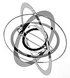 Exklusives kreisförmiges Windspiel LEVRIERO CERCHIO aus rostfreien glänzenden Edelstahl Ø20cm