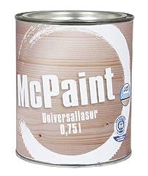 McPaint universale Holzlasur für Innen und Außen besonders UV beständig Farbton Natur 0,75L - Andere Farbtöne verfügbar
