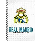 Safta SF-511754-066 - Libreta folio 80 hojas tapas duras, equipación 2017/2018, diseño Real Madrid
