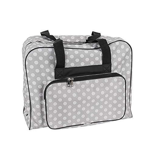 Nähmaschinen Tasche (grau mit weißen Punkten)