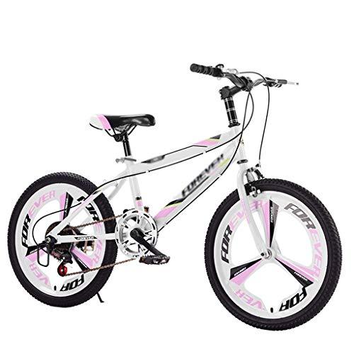 ETZXC Kinderfahrräder Kinder Mountainbike Kinder Fahrrad mit Variabler Geschwindigkeit Geeignet für Jungen und Mädchen Fahrrad Kinder Travel Bike-20 Zoll