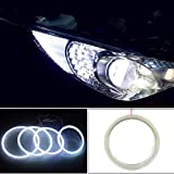 1 Pair Angle Eyes Led Ring DRL Halo Ring 60mm 70mm 80mm 90mm 100mm Angel Eyes COB Chips Headlight DRL for Motorcycle Car(120mm)