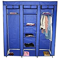 Teprovo Folding Wardrobe 9 Soils 150 x 45 x 175 cm Blue