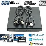 CDC® USB2.0 External Player Externe USB + DVD Combo CD-R / RW-CD-ROM / XA DVD-ROM-Brenner-Laufwerk und Netzkabel , Unterstützt CD nicht benötigen Brennen von CD-ROM-Laufwerk für Notebooks, Desktop, Netbook, Laptop