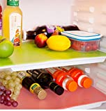 #7: Kuber IndustriesTM Refrigerator Drawer Mat / Fridge Mat Set Of 6 Pcs Multi Color (Material- Plastic)