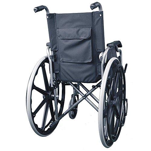 5131hsHFZDL - Silla de ruedas | Plegable | Ruedas grandes | Ortopédica | Reposabrazos abatibles | Negro | Giralda | Mobiclinic
