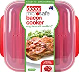 Decor ® Microwave Bacon Cooker Plate - For Healthier Crispy Bacon - Cook Bacon Within Minutes