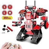 Costruzione Blocchi Robot RC, Giocattolo Robot STEM Telecomandato Kit di Robotica Educativa DIY Robot Elettronici RC Ricaricabili Intelligenti Divertente Regalo per Bambini Ragazzi Ragazze (392 pezzi)