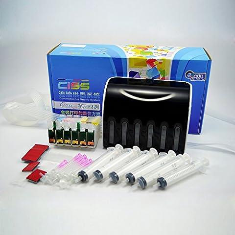 colorsky CISS CIS sistema de tinta continuo para Epson cartuchos t0771t0772t0773t0774t0775t07766color para Epson Stylus Photo R260R280R380RX580RX680