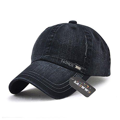 LAOWWO Baseball cap Männer jungen kappe Waschen Denim Klassisches Design Sport Freizeit Kappe Hut für Schule Outdoor Running Shoping 6 Farben