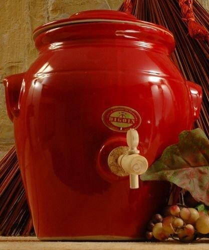 DIGOIN CERAMIQUES - Vinaigrier rouge en grès 4 litres