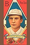 """Red Sox SPEAKER Boston A.M.: Tris Speaker: Vintage Baseball Player Card Art Journals: 6""""x9"""" (15.24cm x 22.86cm) 110 Pages MLB History Books To Write ... & Enthusiasts (Baseball Lovers Gift Ideas)"""