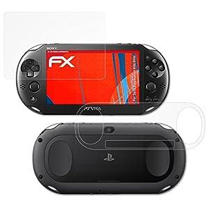 atFoliX Schutzfolie kompatibel mit Sony PlayStation Vita Slim Folie, entspiegelnde und flexible FX Displayschutzfolie (3er Set)