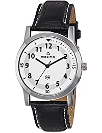Maxima Analog White Dial Men's Watch-44670LMGI