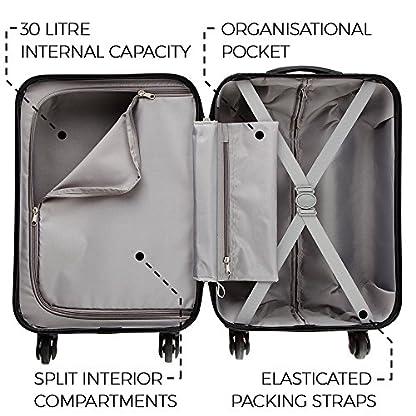 5131l989wSL. SS416  - Maleta de equipaje de mano de cabina con 4 ruedas para Cabina Max Toscana Super Ligera 2.4kg ABS funda dura, aprobado para Ryanair, Easyjet, British Airways y muchos más