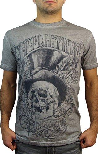 Affliction T-Shirt Parlor Grau Grau
