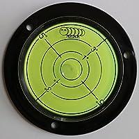Livella sferica ad alcol flangiata bolla acrilico (liquido verde) -