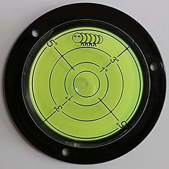 Niveau à Bulle d'Air Convexe en Acrylique (Liquide Vert) – Circulaire, Boîtier en Acrylique, Niveau de Surface, Bulls Eye Bullseye Fiole de Niveau Rond