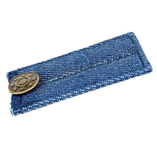 MagiDeal Denim Hosen Hosenerweiterung Schwangerschaft Bunderweiterung Jeans Hosenbundverlängerung mit Knöpfe - Blau