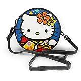 Hello Kitty In Kimono Damen Handtasche, Umhängetasche, Leder, lässig, Mini-Schultertasche