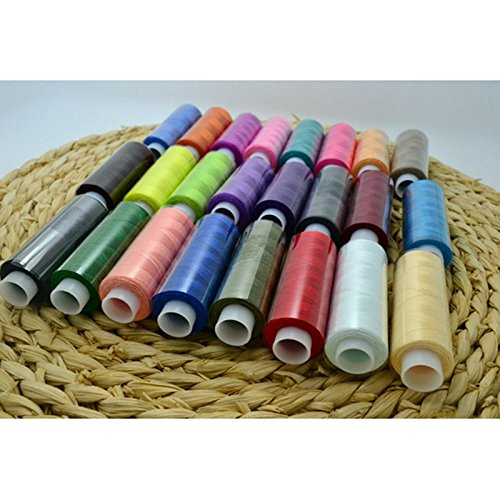 Generic 24PCs Different Color Thread/Lot Household Sewing DIY Hand Embroidery Cross Stitch Thread Hand Machine Use