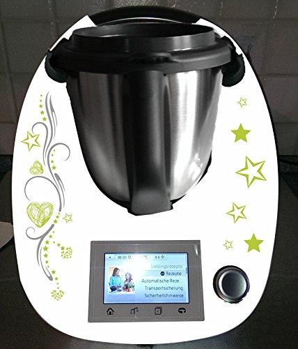 Aufkleber passend für Thermomix TM 5 ribal Sterne - Fünf-sterne-küchenmaschine