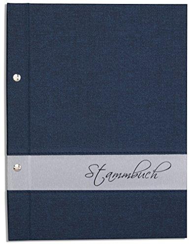Preisvergleich Produktbild A5 Stammbuch der Familie -Lumine-, blau, Silber, Familienstammbuch, Stammbücher, incl. Folien, DIN A5