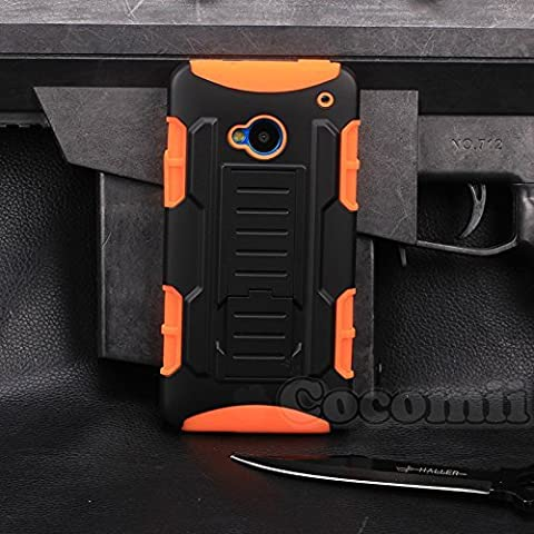 HTC One M7 Hülle, Cocomii Robot Armor NEW [Heavy Duty] Premium Belt Clip Holster Kickstand Shockproof Hard Bumper Shell [Military Defender] Full Body Dual Layer Rugged Cover Case Schutzhülle